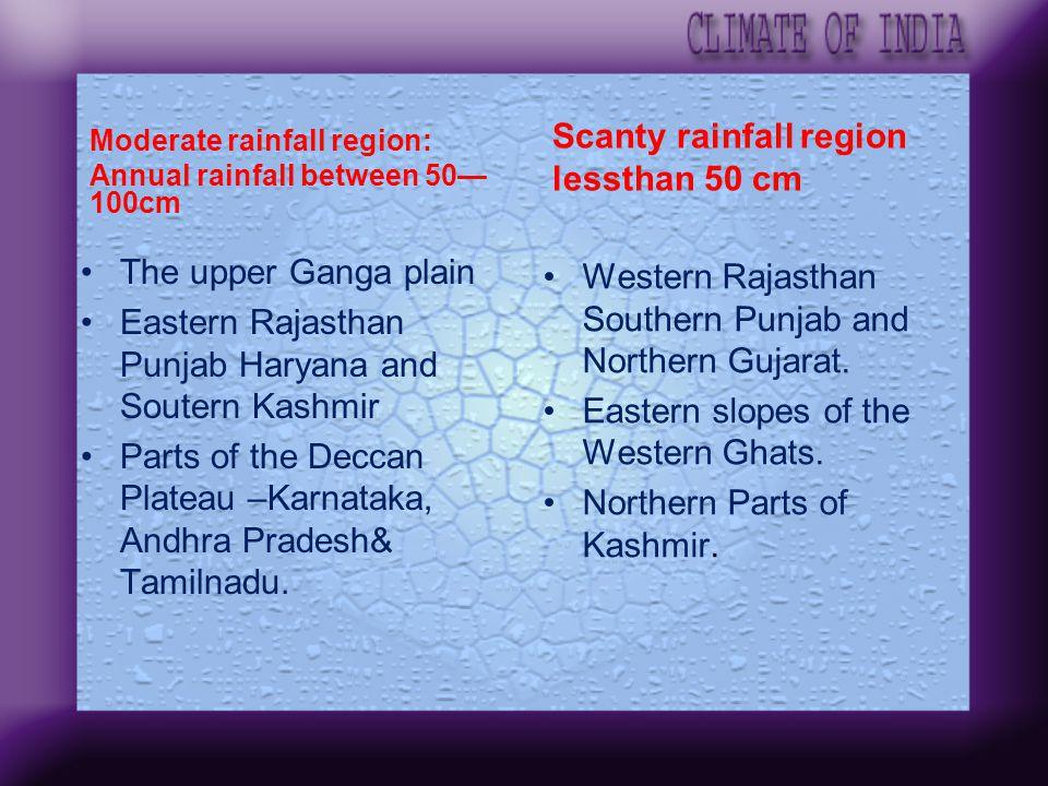 Scanty rainfall region lessthan 50 cm