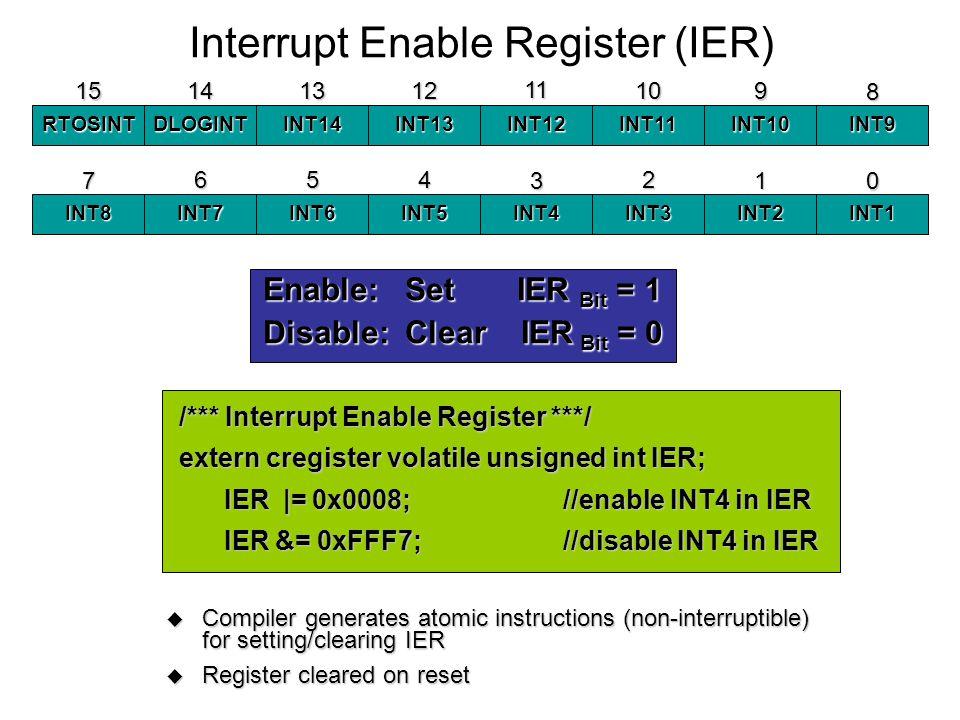 Interrupt Enable Register (IER)