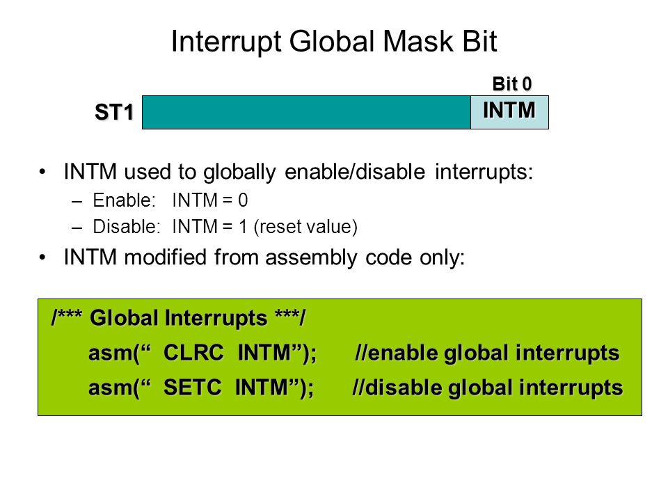 Interrupt Global Mask Bit
