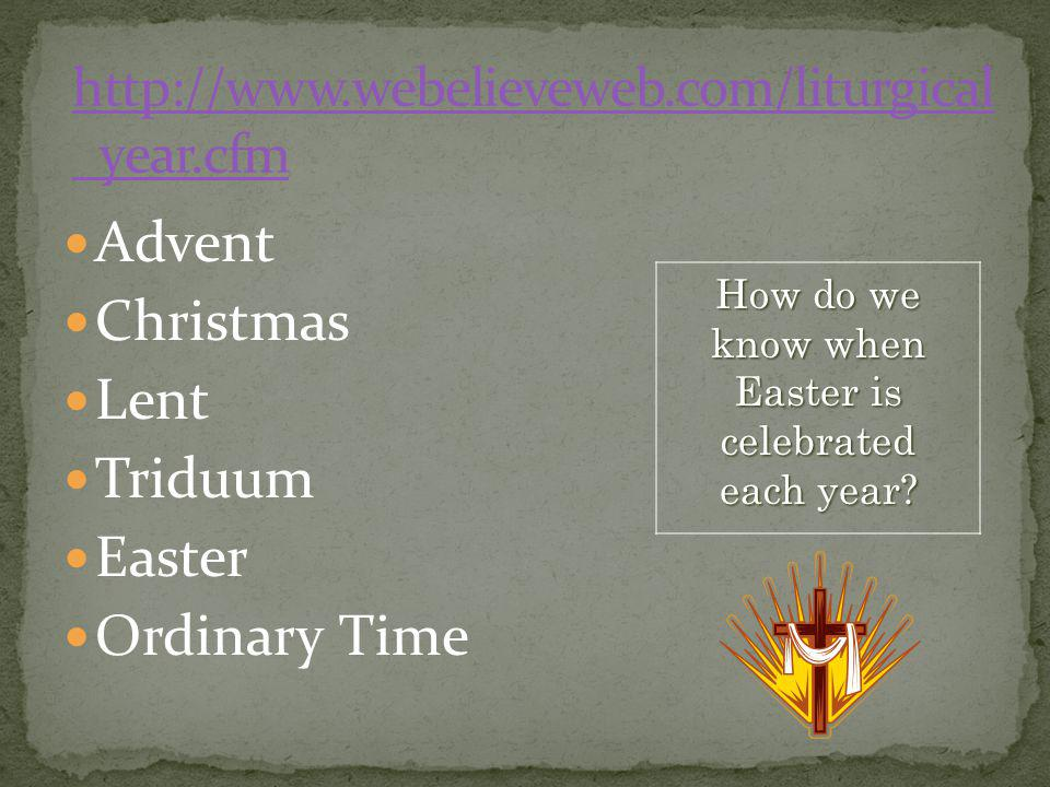 How do we know when Easter is celebrated each year