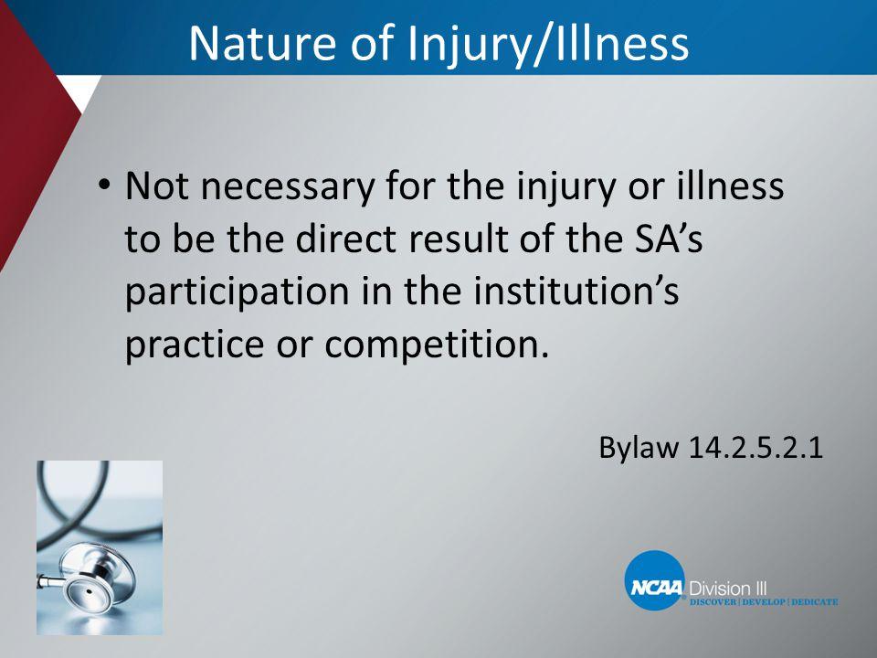 Nature of Injury/Illness