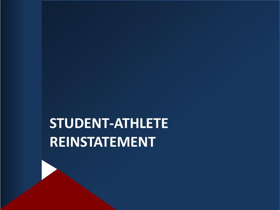 Student-athlete reinstatement