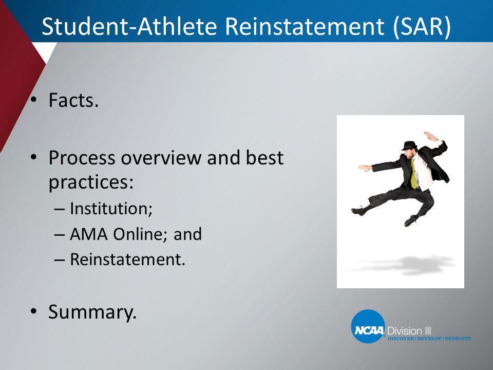 Student-Athlete Reinstatement (SAR)