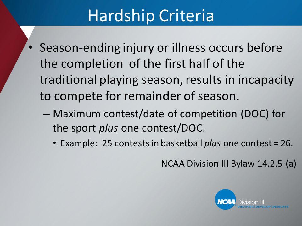 Hardship Criteria
