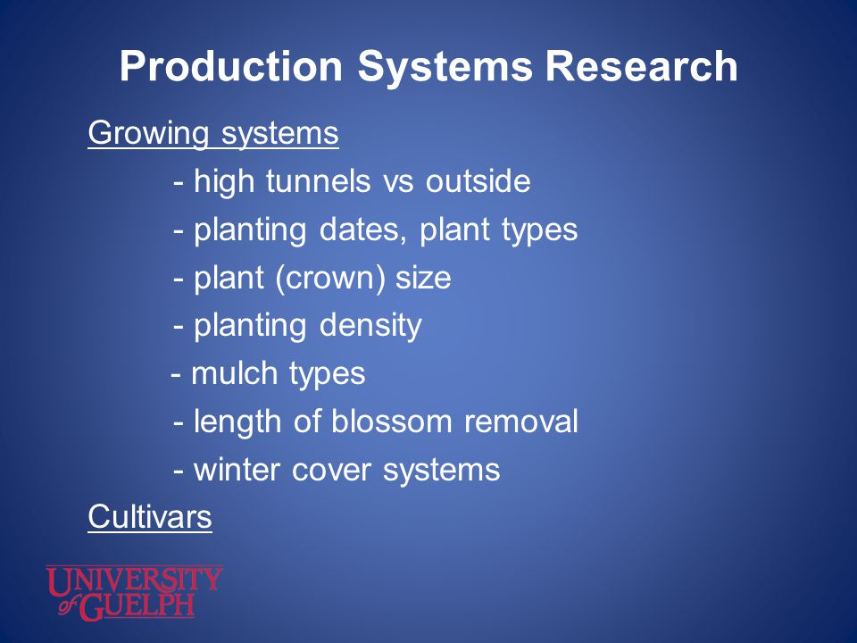 Production Systems Research