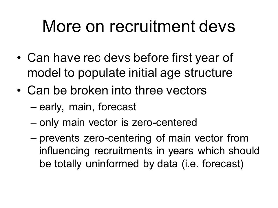 More on recruitment devs