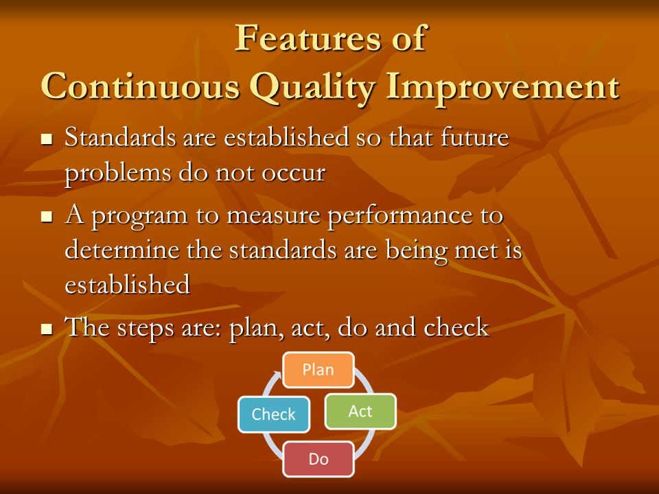Features of Continuous Quality Improvement