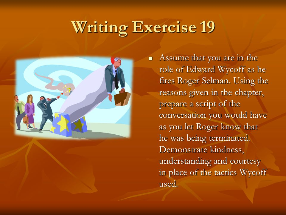 Writing Exercise 19