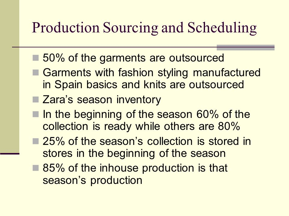 Production Sourcing and Scheduling