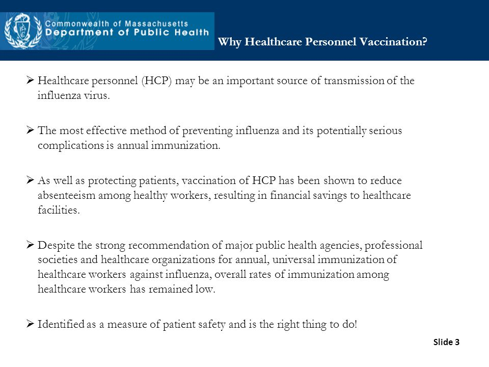 Why Healthcare Personnel Vaccination