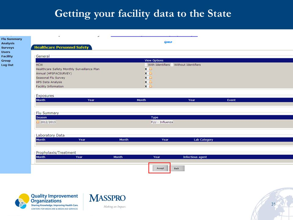 Getting your facility data to the State