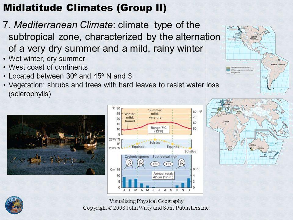 Midlatitude Climates (Group II)
