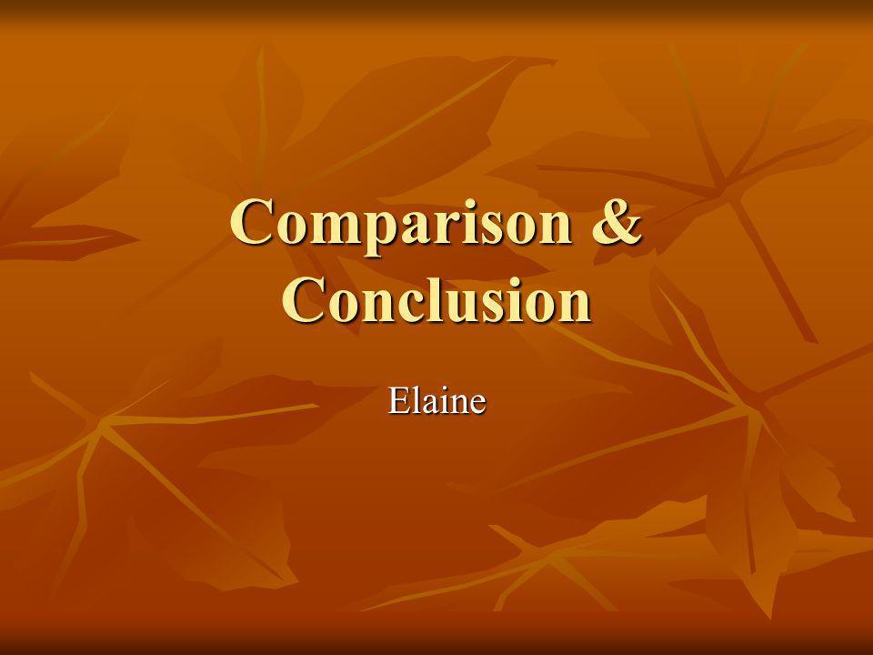 Comparison & Conclusion