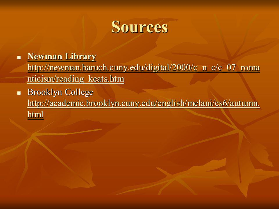 Sources Newman Library