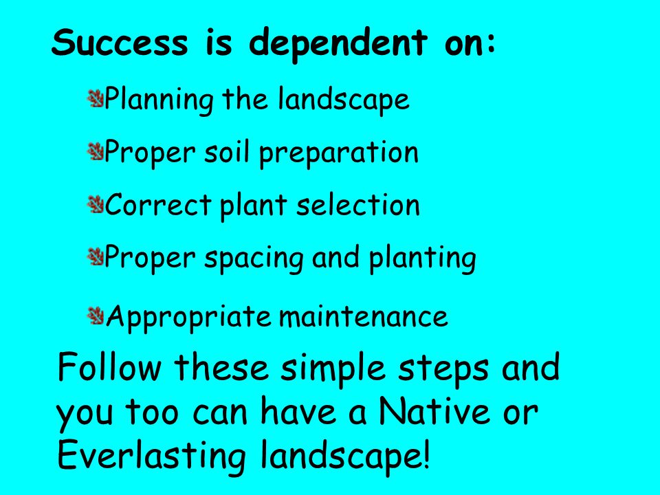 Success is dependent on: