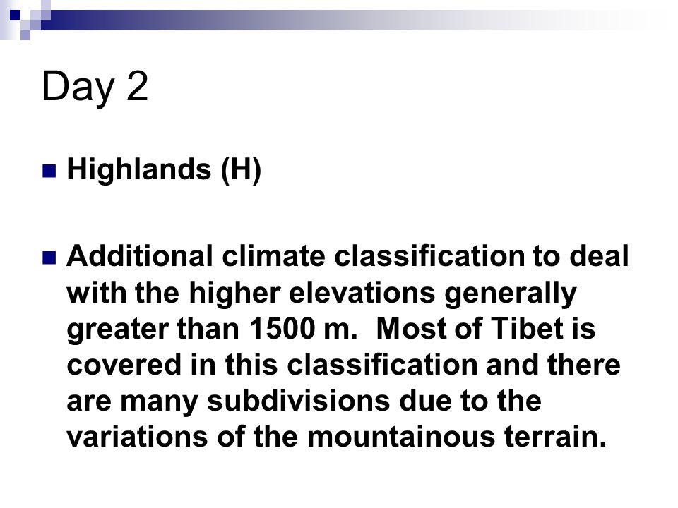 Day 2 Highlands (H)