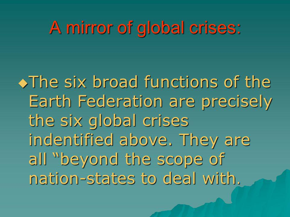 A mirror of global crises: