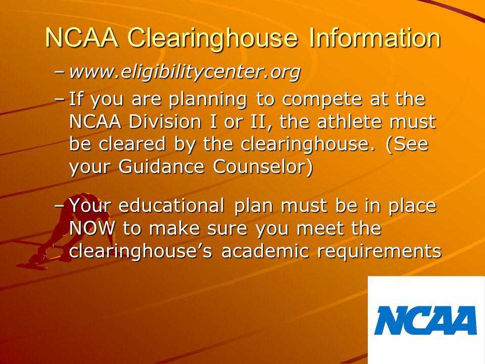 NCAA Clearinghouse Information