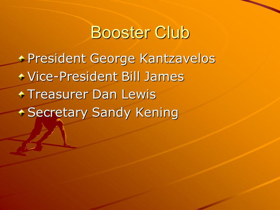 Booster Club President George Kantzavelos Vice-President Bill James
