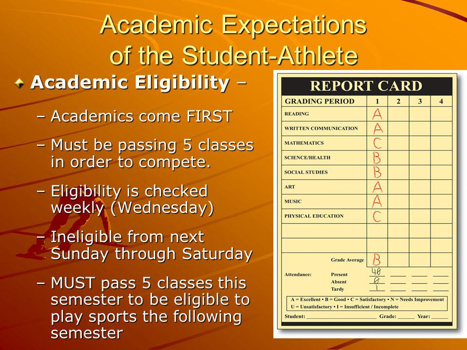 Academic Expectations of the Student-Athlete