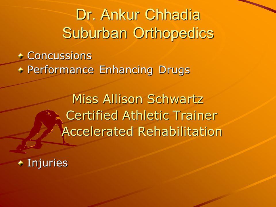 Dr. Ankur Chhadia Suburban Orthopedics
