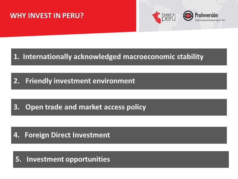 Internationally acknowledged macroeconomic stability