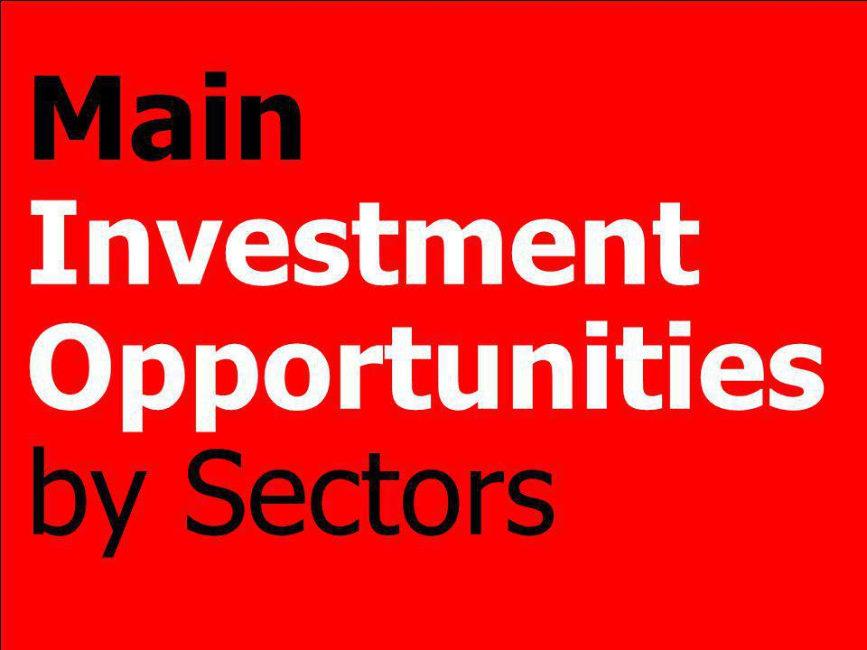 Main Investment Opportunities by Sectors