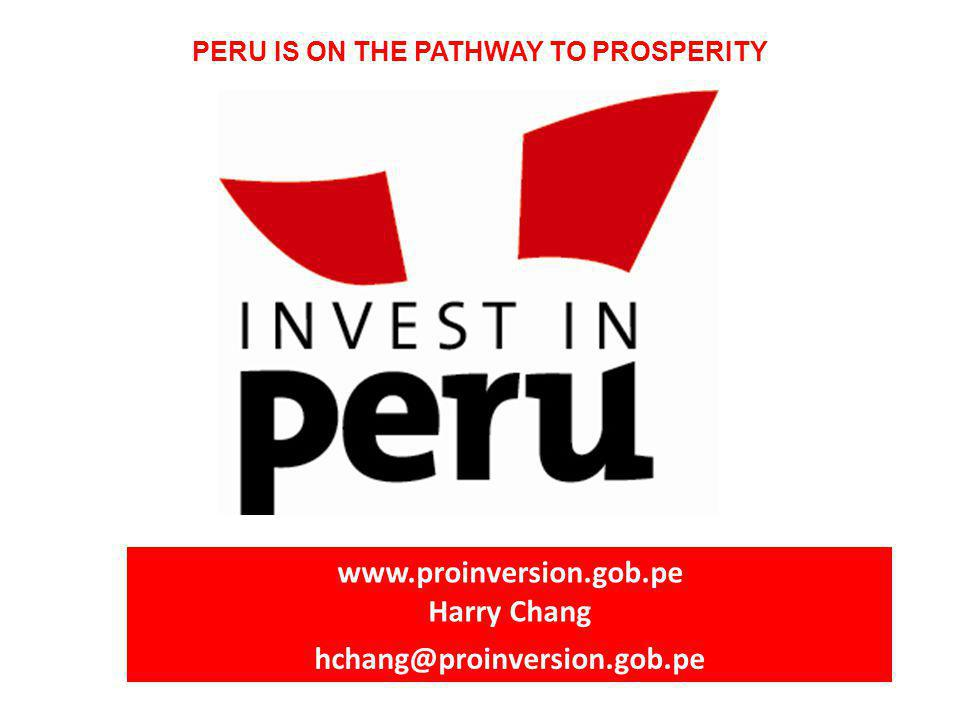 PERU IS ON THE PATHWAY TO PROSPERITY