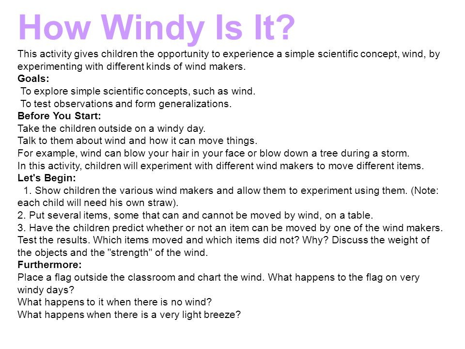 How Windy Is It