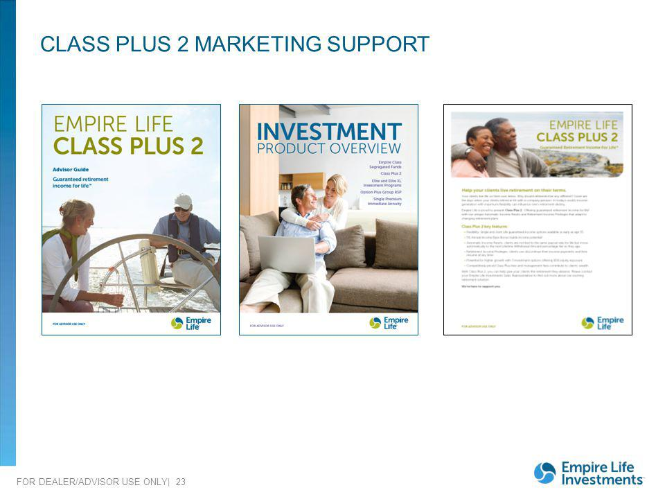CLASS PLUS 2 MARKETING SUPPORT