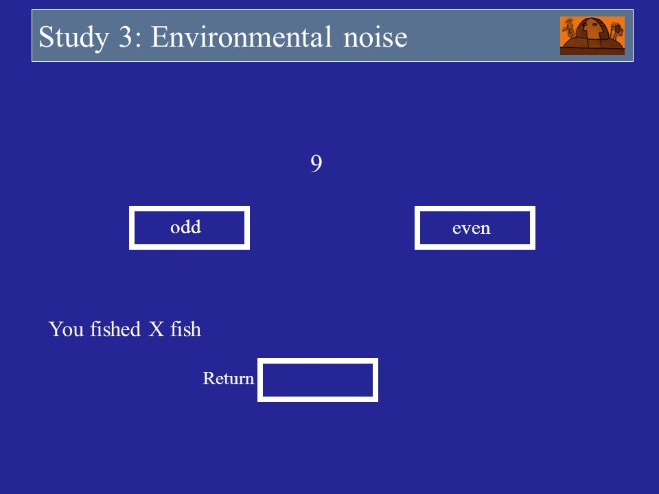 Study 3: Environmental noise