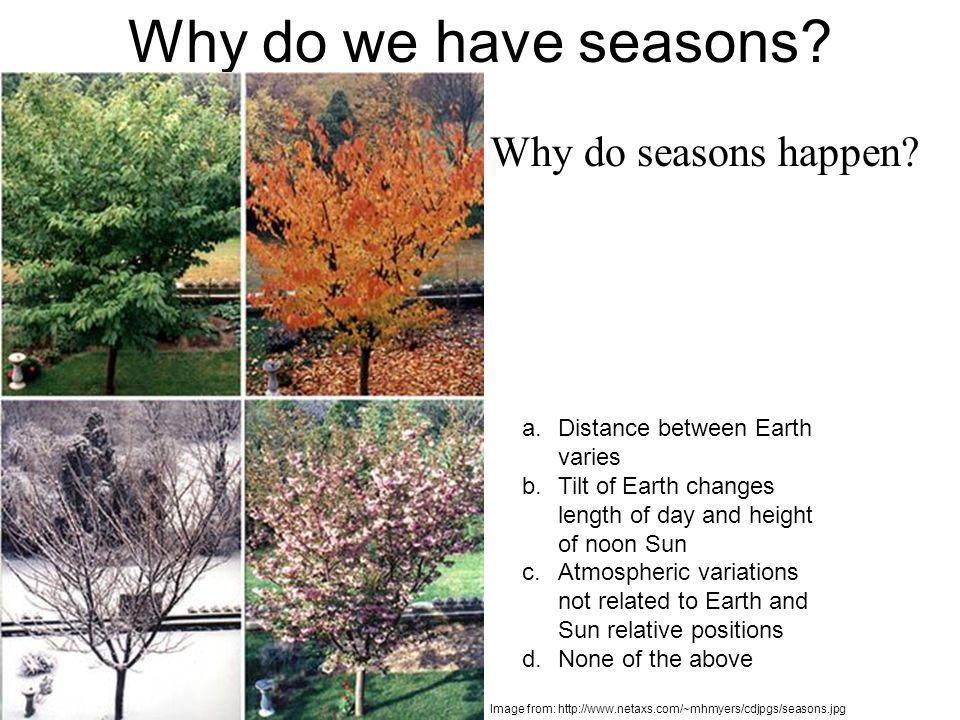 Why do we have seasons Why do seasons happen