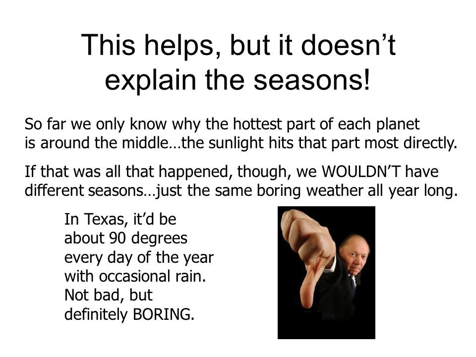This helps, but it doesn't explain the seasons!