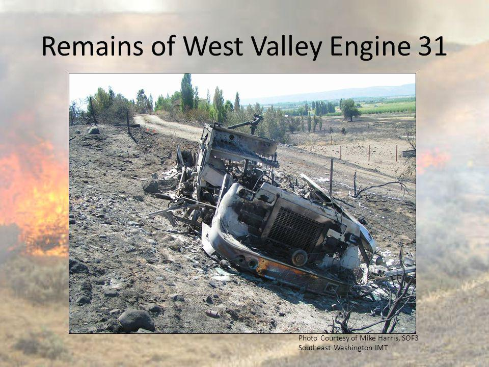 Remains of West Valley Engine 31