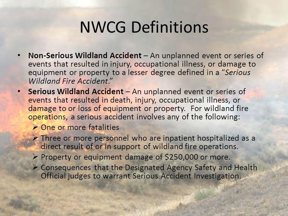 NWCG Definitions