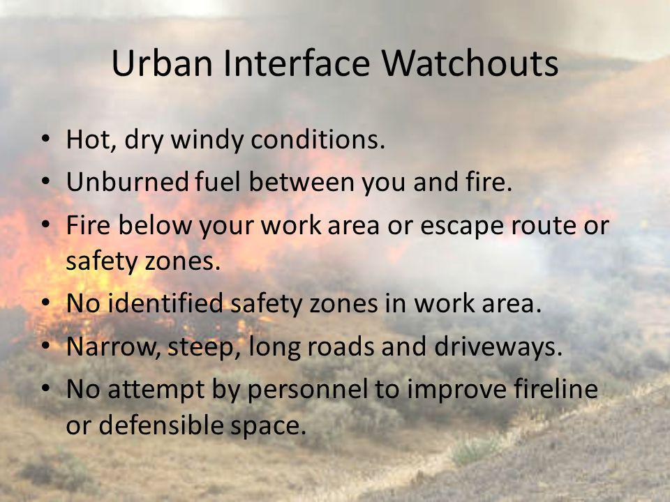 Urban Interface Watchouts