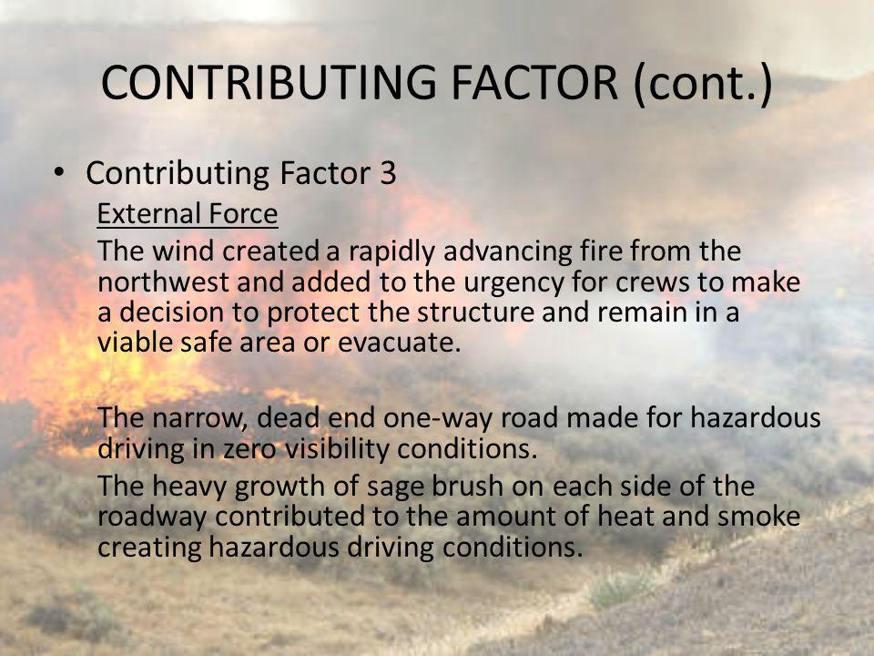 CONTRIBUTING FACTOR (cont.)