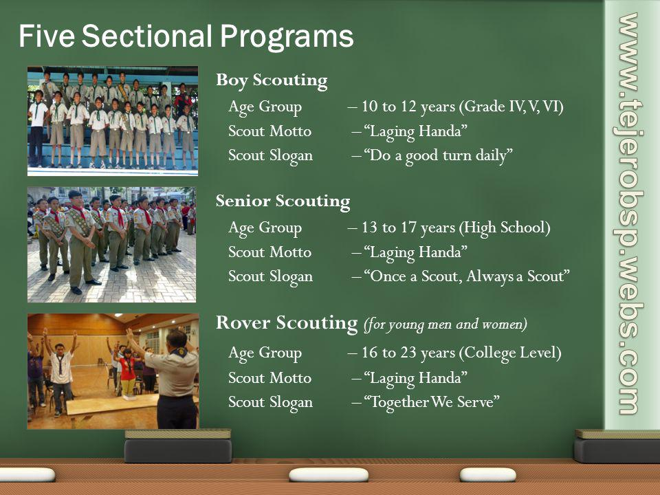 Five Sectional Programs