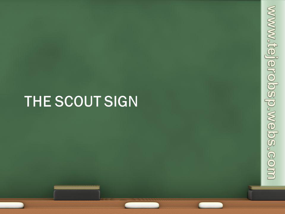 The scout sign