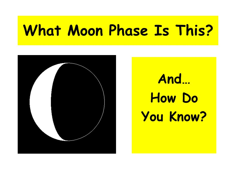 What Moon Phase Is This And… How Do You Know