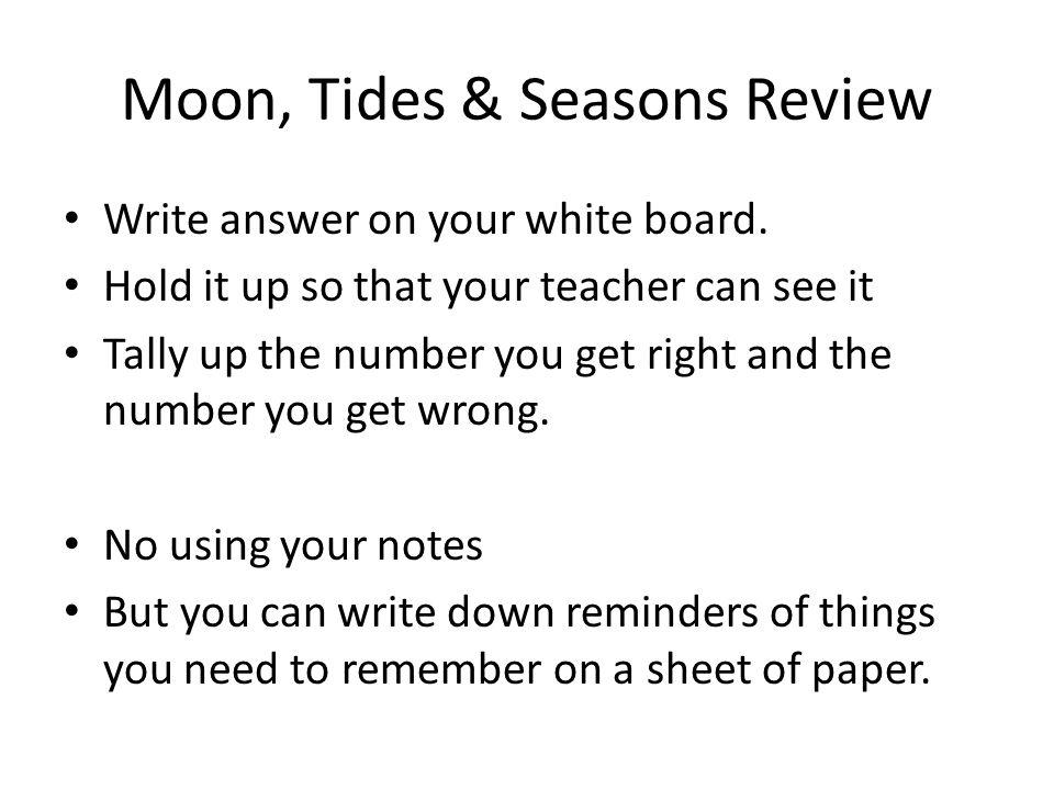 Moon, Tides & Seasons Review