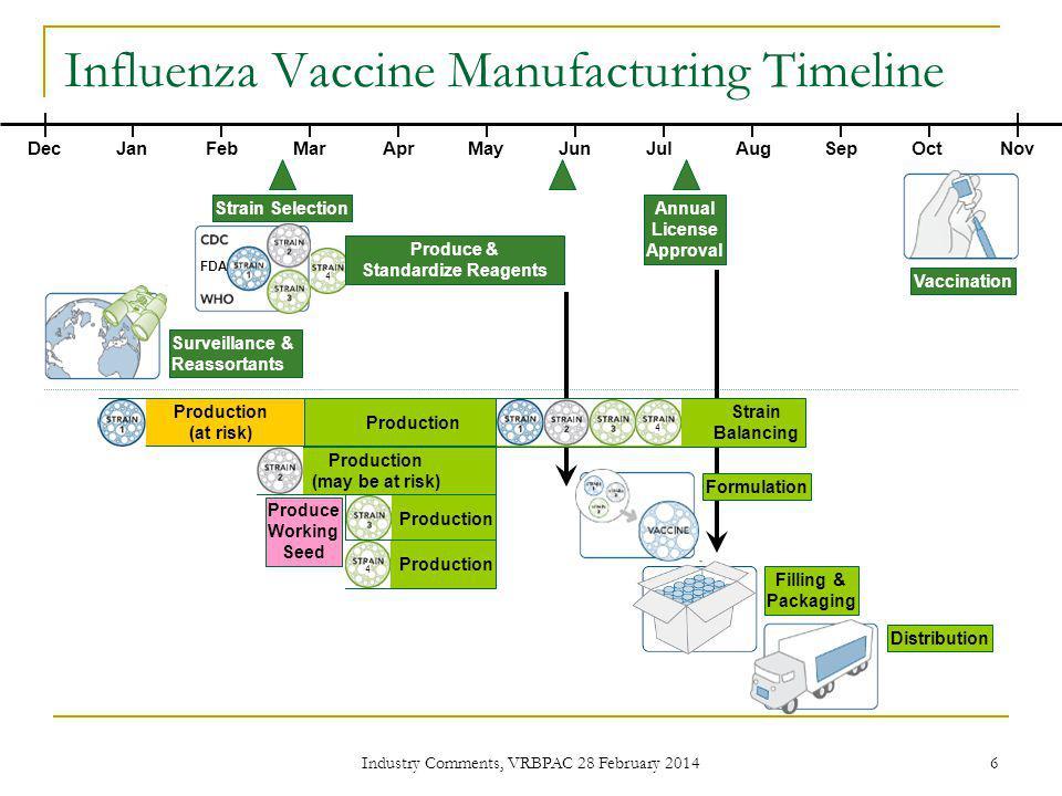 Influenza Vaccine Manufacturing Timeline