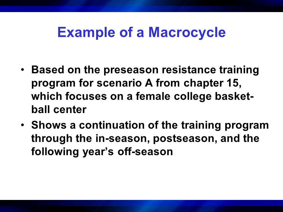 Example of a Macrocycle