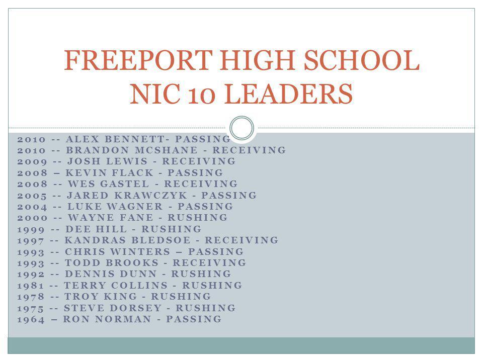 FREEPORT HIGH SCHOOL NIC 10 LEADERS