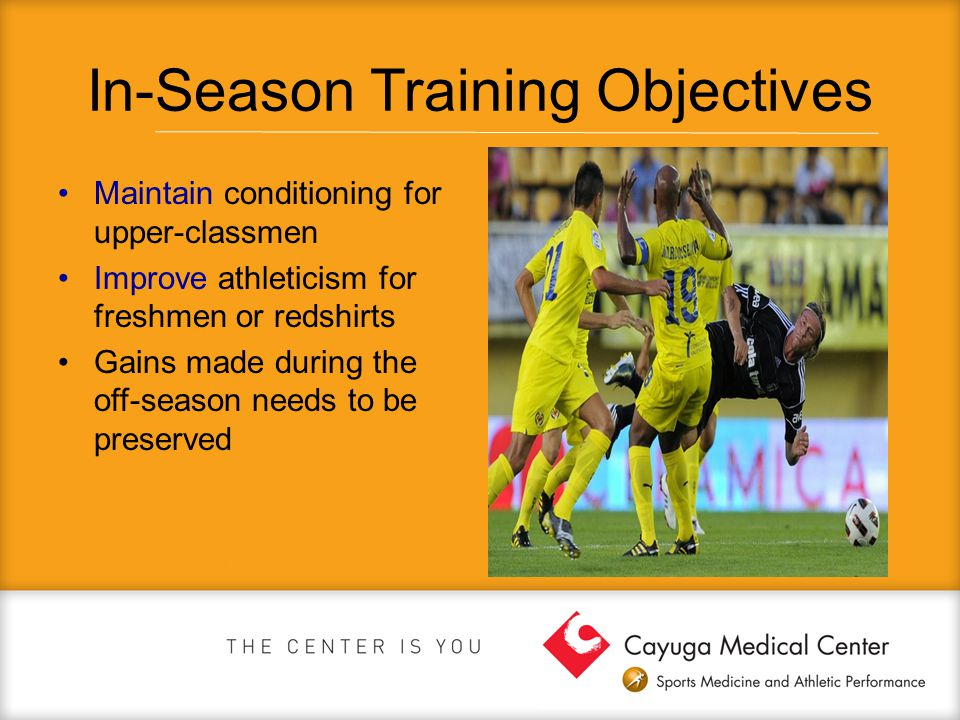 In-Season Training Objectives