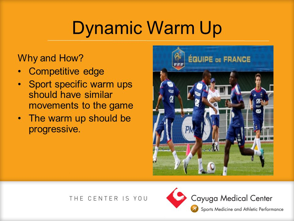 Dynamic Warm Up Why and How Competitive edge