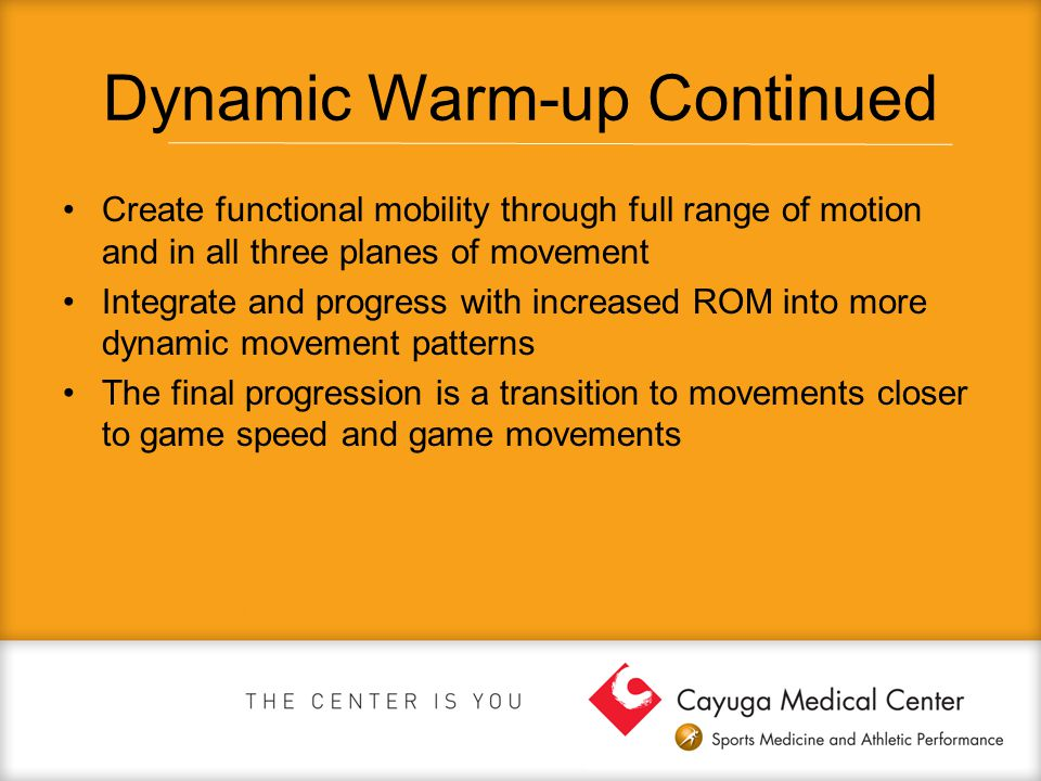Dynamic Warm-up Continued