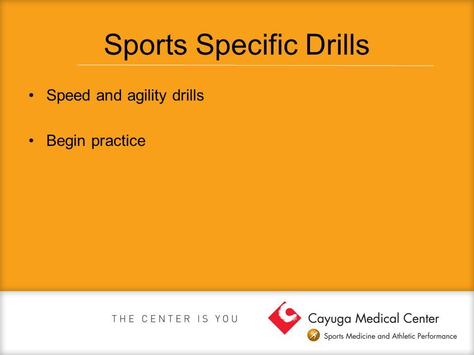 Sports Specific Drills