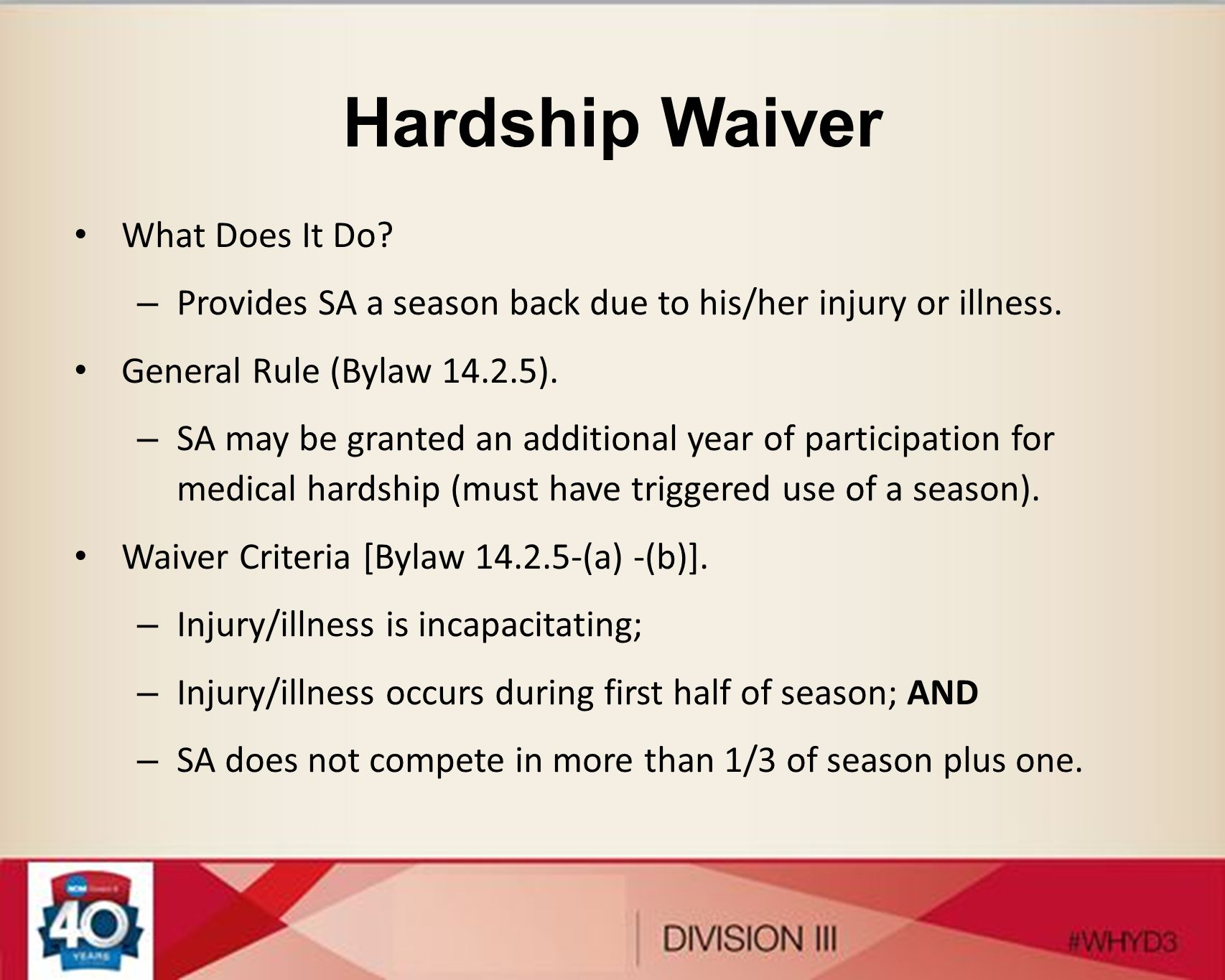 Hardship Waiver What Does It Do