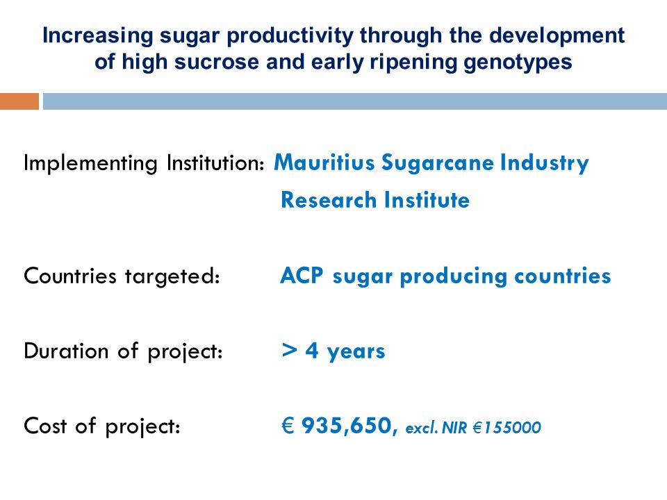 Increasing sugar productivity through the development of high sucrose and early ripening genotypes